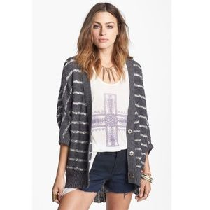 Free People Rabbit in the Moon striped cardigan